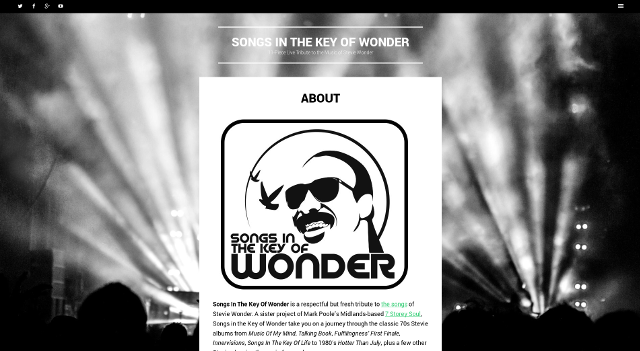 snapshot of Songs In The Key Of Wonder Website